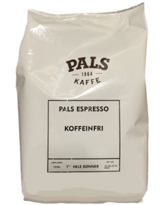 PALS Espresso Koffeinfri Hele Bønner 1 KG
