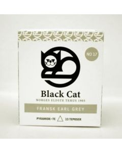 Black Cat Fransk Earl Grey Pyramide te