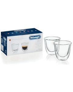 Delonghi espresso glass 2 stk