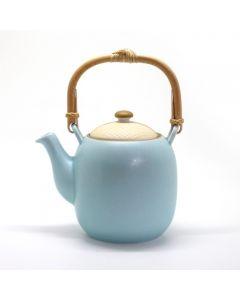 Jewel Japan tekanne med blå mønster og rustfritt stål filter