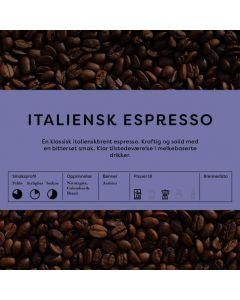 Black Cat Italienskbrent Espresso 1kg Hele Bønner