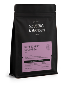 Solberg & Hansen Dekaffiner Espresso Tarqui 250gr Hele Bønner