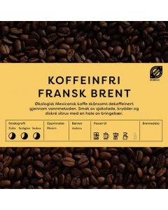 Black Cat Koffeinfri Fransk Brent kaffer 1kg Hele Bønner